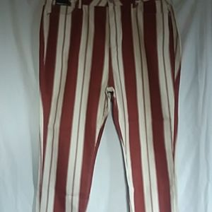 NEW FOREVER 21 STRIPED JEANS